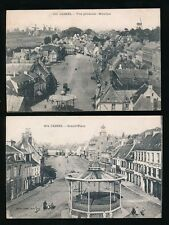 France Nord CASSEL Grand'Place & General view 2 c1910/20s PPCs
