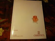Christie's Auction Catalog Fine Jewels New York June 10, 1992