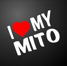 I LOVE MY MITO ALFA ROMEO Car Window Bumper Graphic Sticker alloy wheels