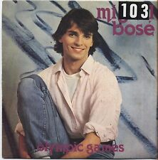 "MIGUEL BOSE' - Olympic games - VINYL 7"" 45 LP ITALY 1980 VG+ COVER VG- CONDITION"