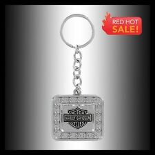 HARLEY-DAVIDSON RECTANGLE BAR & SHIELD KEY CHAIN FOB