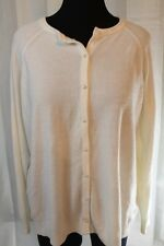 Cream Off White Cardigan Sweater Women's 3X Vintage Long Sleeve Pearl Buttons