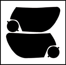 12-15 TOYOTA TACOMA SMOKE HEAD LIGHT PRECUT TINT COVER SMOKED OVERLAYS