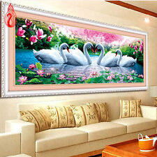 YGS-41 DIY5D Embroidery Swan Eternal Love Round Diamond Painting Kit MadeInChina