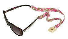 LILLY PULITZER Sunglasses Strap BEACH ROSE Sunglass Croakies N Cotton Gold Studs