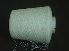 CASHMERE/ACRYLIC NATURAL WHITE UNDYED FINELY SPUN SINGLES 500gm CONE