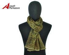 Tactical Multifunctional Camouflage Scrim Scarf Face Mask German Flecktarn Camo