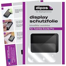 2x dipos Toshiba Excite Pro Tablet klar Displayschutzfolie Crystalclear glänzend