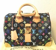 AUTHENTIC Louis Vuitton Multi-Color Black Speedy30
