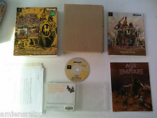 Age of Empires 1 Gold Edition (extension Rise of Rome) STR Big box carton PC FR