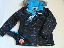 NWT Girls Zero XPosur Snowboard Jacket Size 16 XL Ski Coat Winter Black Headband