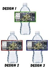 20 TEENAGE MUTANT NINJA TURTLES NMNT BIRTHDAY PARTY FAVORS WATER BOTTLE LABELS