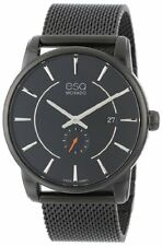 ESQ Movado Men's 07301445 Capital Ionic Black-Plated Steel Black  Dial Watch
