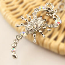 Scorpion Keychain Rhinestone Crystal Charm Animal Insects Reptile Key Gift 01201