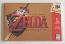Ocarina of Time FRIDGE MAGNET (2 x 3 inches) video game box legend zelda n64