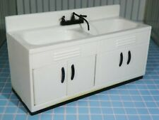 Ideal DELUXE SINK CABINET Vintage Tin Dollhouse Furniture Renwal Miniature 1:16