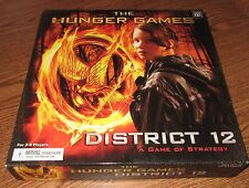 THE HUNGER GAMES District 12 Strategy Board Game Wizkids NECA Used GUC Strategy