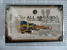HARD ROCK CAFE STOCKHOLM 2015 - ALL ABOARD TRAIN - HRC EUROPE EXPRESS SERIE PIN