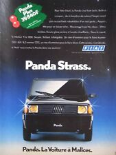 PUBLICITÉ 1990 FIAT PANDA STRASS LA VOITURE A MALICES - ADVERTISING
