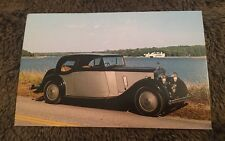 Vintage Postcard Unposted 1936 Rolls Royce Continental Coupe