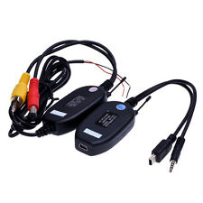 New 2.4G Wireless RCA Video Transmitter&Receiver for Car RearView Camera Monitor
