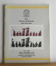 Christie's Fine Chinese Snuff-bottles and Chess Sets Catalog 9/29-30/1978 Art