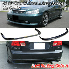 RS Style Front (PP) + RS Style Rear Lip (PP) Fits 01-03 Honda Civic 4dr