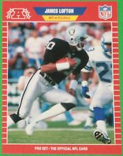 RARE 1989 PRO SET FOOTBALL #463 JAMES LOFTON LOS ANGELES RAIDERS SP