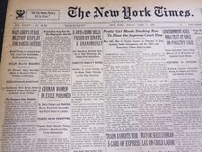 1935 APRIL 5 NEW YORK TIMES - NAZIS CHIEFS STAGE MILITARY DISPLAY - NT 4902
