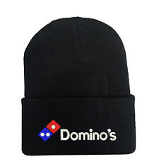 DOMINO'S PIZZA DELIVERY LOGO Black Beanie Hat