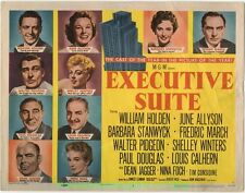 EXECUTIVE SUITE MOVIE POSTER Title Lobby Card William Holden Barbara Stanwyck 54