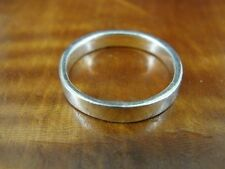 Simple Solid Band Sterling Silver 925 Ring Size 6