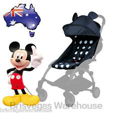 Mickey Mouse Canopy Hood Seat Pad Liner Set For Most Compact Stroller