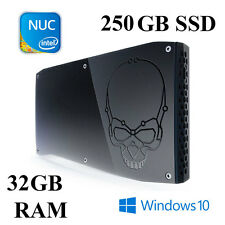 Skull Canyon NUC Mini PC / Core i7 / 32GB / 250GB SSD / Intel Iris GFX / Win 10
