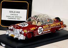 LINCOLN CADILLAC SPECIAL #35 CARRERA PANAMERICANA 1953 TOP MODEL GOLD 052 1/43