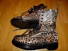 DR. MARTENS SMART CLASSIC LEOPARD PRINT LEATHER CHELSEA BOOTS UK 9 EU 43