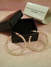 AVON DREAMY SPARKLE Hoop Earrings - GOLDTONE