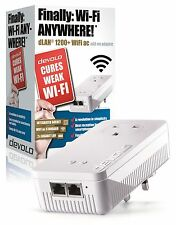 Devolo dLAN 1200+ WiFi Powerline 9385 AC pasar thro Add-on Único Adaptador 2 puertos
