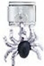 1 Spider Silver Dangle 9MM Stainless Steel Italian Charm