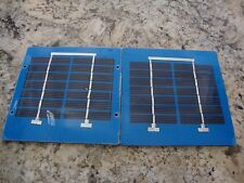 "Mini Solar Panels 12v 1w series Lot of Two Panels  Pmax 6.7v each 5""x5""x0.19"""