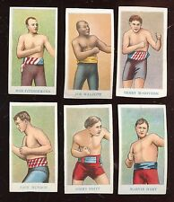 1910 E75 American Caramel Prize Fighter Caramels Boxing Card Lot 6 Different