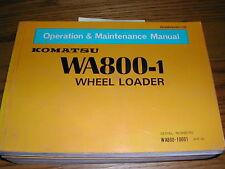 Komatsu WA800-1 OPERATION MAINTENANCE MANUAL WHEEL LOADER OPERATOR GUIDE BOOK