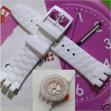 21mm White Rubber Silicon strap.band.bracelet suuw100 CLOWNFISH replacement