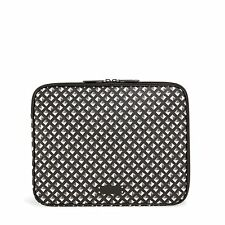"Vera Bradley ""Black White Studs"" Padded NWT Laptop Sleeve Fits 13"" Mac & Dell"