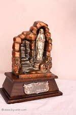 Wunderschöner alter Altar / Maria Statue / AVE MARIA / LOURDES MARIEN / Metall m