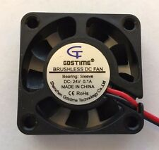 24V Mini Cooling Computer Fan - Small 40mm x 10mm DC Brushless 2-pin US SHIPPING