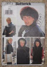 Butterick Pattern 3311 Vest Headband Headwrap Scarf Bag Misses M-L Uncut