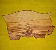 TAGLIERE ASSE legno di ulivo pezzo unico FORMA MAIALE MAIALINO PICCOLO vassoio