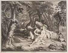 JAN WANDELAAR - Jupiter amoureux de Calisto - Kupferstich 1732