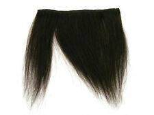 CLIP-IN HUMAN HAIR FRINGE BANGS CYBERLOX #2 DARKEST BROWN UNCUT 8""